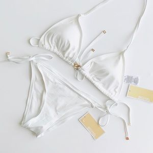 Michael Kors Cruise 2019 white bikini set - SMALL
